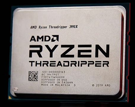 Процессор AMD ThreadRipper 3990X архитектуры ZEN2 с 64 ядрами и 128 потоками