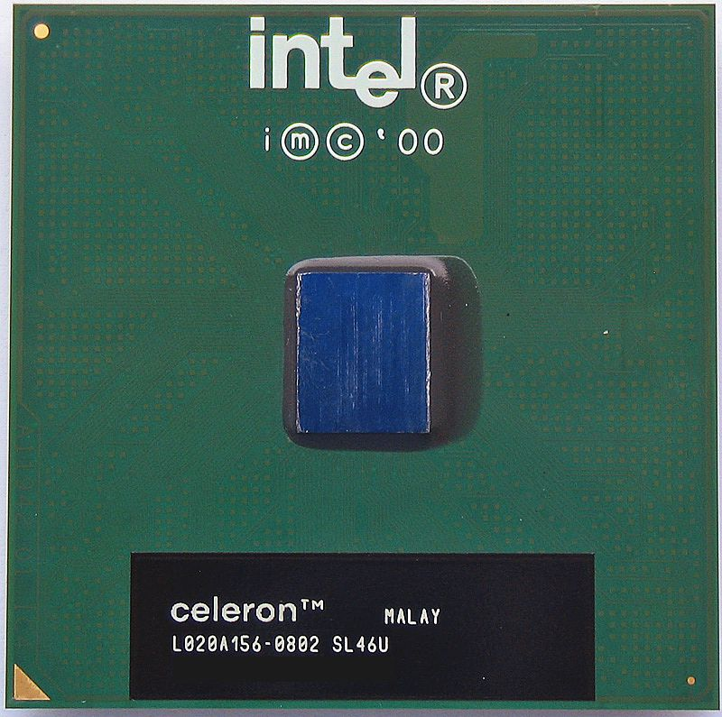 Центральный процессор (CPU) Intel Celeron {Coppermine} (PGA 370) [1 core] L2 128K, 667 МГц